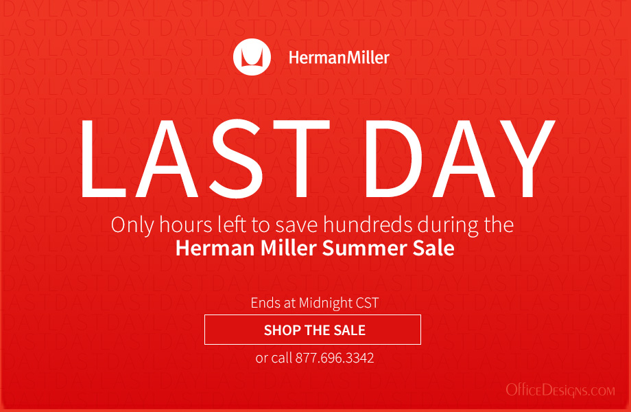 Last Day for Herman Miller Sale