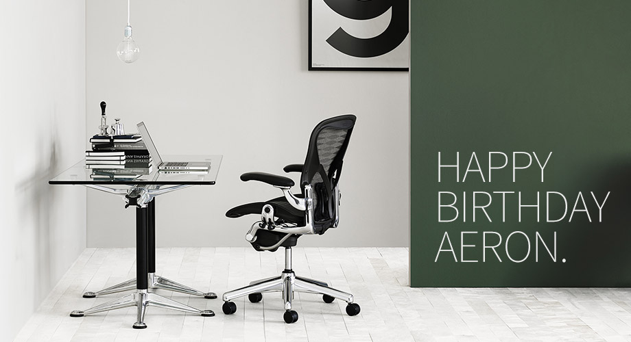 Aeron Chair by Herman Miller turns 20 years old.