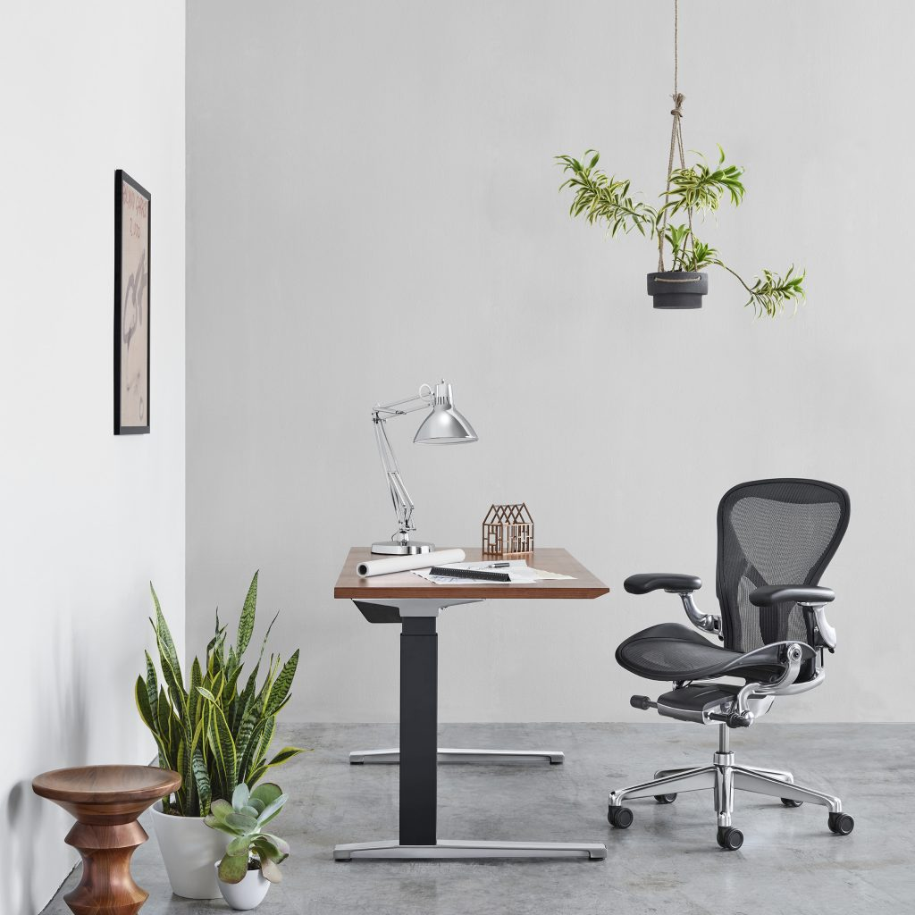 Aeron Chair® with polished aluminum base by Herman Miller®