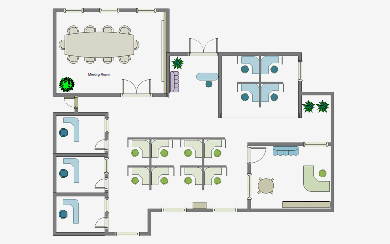 the office floor plan. Edrawsoft. Edrawsoft Office Space Layout Tool The Floor Plan