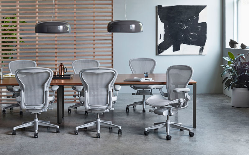 The Aeron Chair has been remastered for today's work and worker.