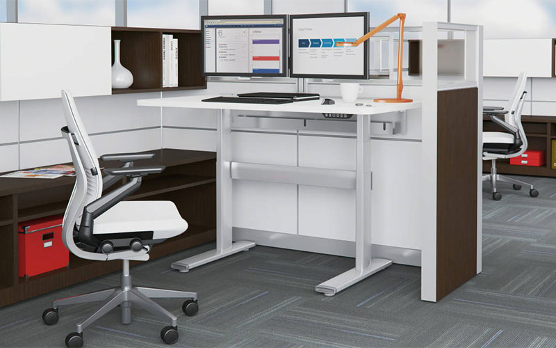 Series 7 Sit Stand Desk By Steelcase