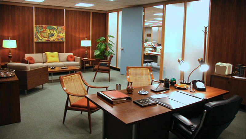 Mid century modern is making a comeback in office design for 60s office design