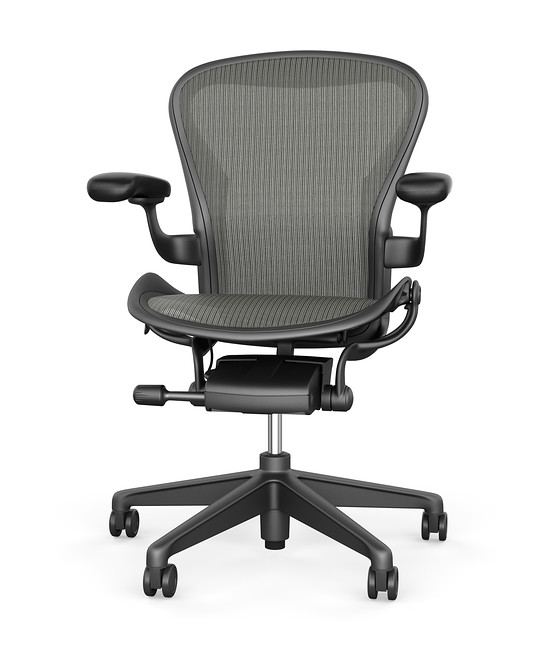 Black Aeron Chair by Herman Miller