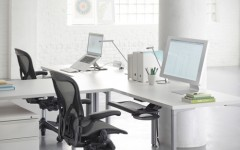 Ergonomic office chairs can boost morale and productivity in the workplace.